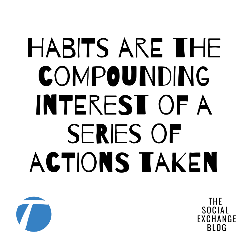 Habits are the compounding interest of a series of actions taken (1)